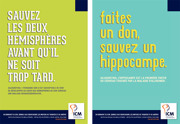 campagne affichage Institut du Cerveau - ICM