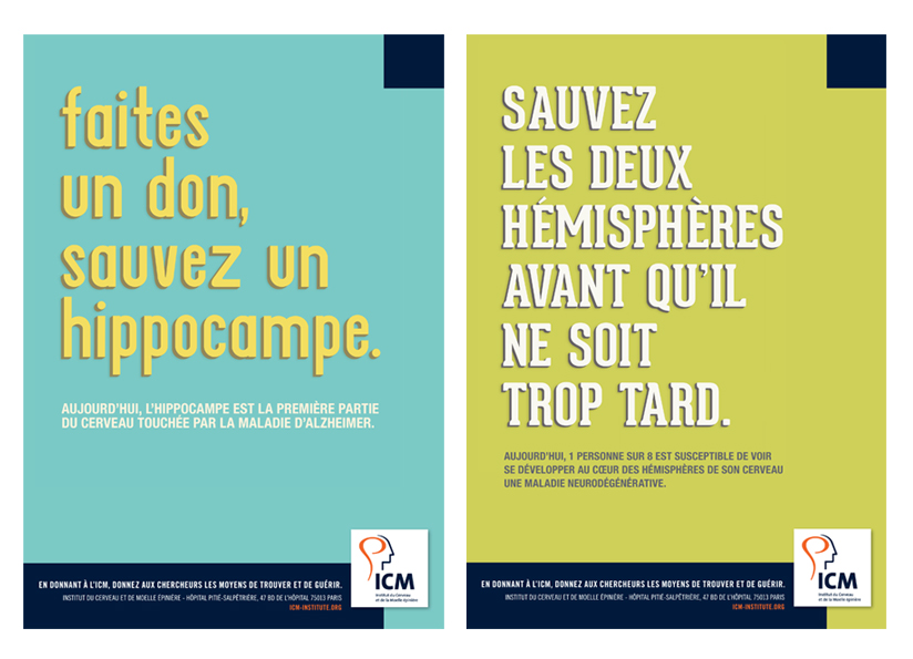 Publicity campaign of Institut du Cerveau - ICM - 2014