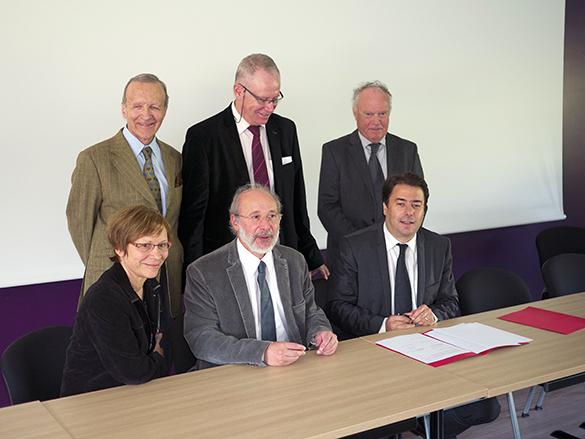 signature de la convention Institut du Cerveau - ICM-Cyceron