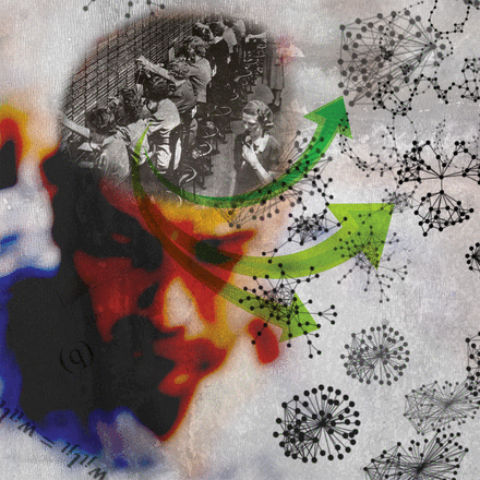 Illustration du numéro thématique Complex network theory and the brain