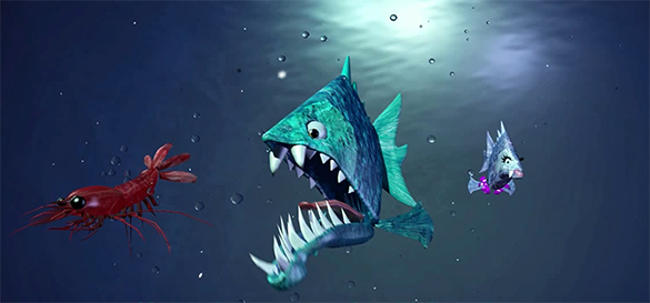 """""""serious game"""" voracy fish"""