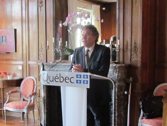 Mr Michel Robitaille, Regional delegate of Quebec in France
