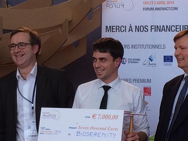 Pierre Frouin, CEO de BioSerenity, reçoit le prix Innovact 2014