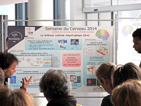 Un poster et une visite d'une plateforme technique pour vous expliquer la recherche sur la SLA.