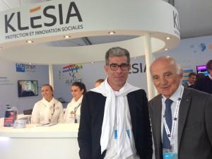 Christian Schmidt de La Brélie, Directeur Général du groupe Klesia, et Gérard Saillant, Président de l'Institut du Cerveau - ICM