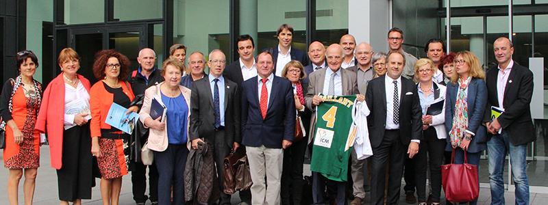 Photo de la visite de la délégation Limousin à l'ICM