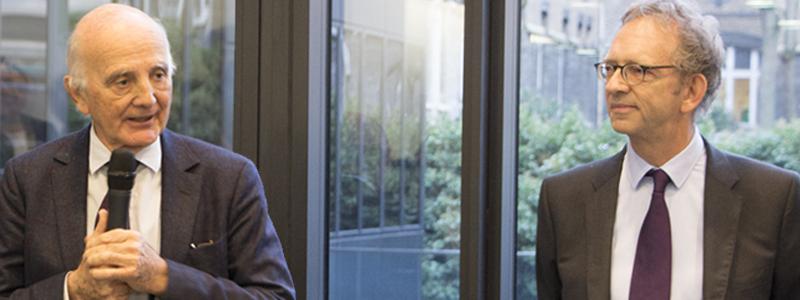 Pr Gérard Saillant et Pr Alexis Brice