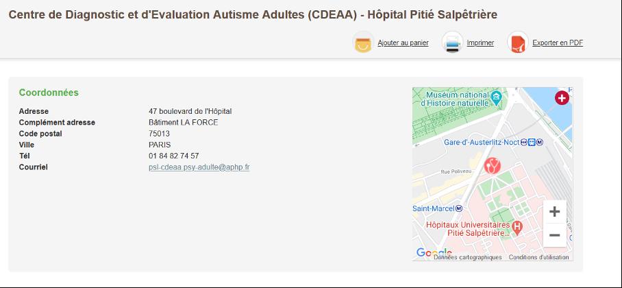 centre diagnostic evaluation autisme adultes CDEAA